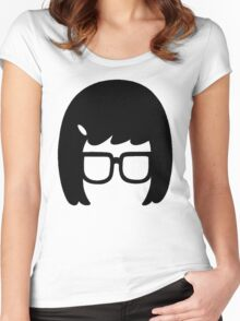 The Girl with the Glasses Women's Fitted Scoop T-Shirt