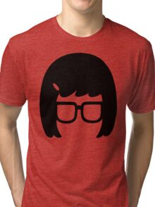 The Girl with the Glasses Tri-blend T-Shirt