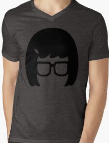 The Girl with the Glasses Mens V-Neck T-Shirt