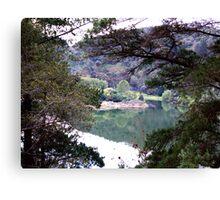 Valley lake Canvas Print