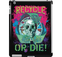 Recycle or Die Earth Day Skull Gear iPad Case/Skin