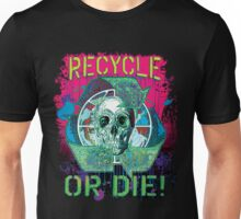Recycle or Die Earth Day Skull Gear Unisex T-Shirt