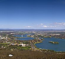 Canberra  Panorama taken from Telstra Tower. by Joseph Darmenia