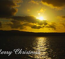 Strahan Harbour sunset, Merry Christmas by Steven Weeks