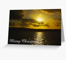 Strahan Harbour sunset, Merry Christmas Greeting Card