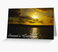 Strahan Harbour sunset, Season's Greetings Greeting Card
