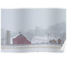 Snowy Country Winter Day Poster