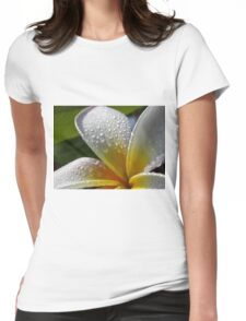 White plumeria #6, Big Island, Hawaii Womens Fitted T-Shirt