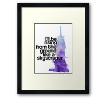 like a skyscraper watercolor Framed Print