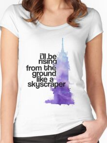 like a skyscraper watercolor Women's Fitted Scoop T-Shirt