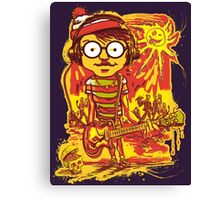 Waldo Would Rather Be Undead Than Cool Canvas Print