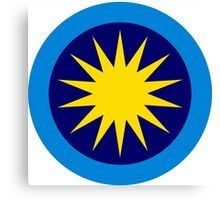 Roundel of the Royal Malaysian Air Force  Canvas Print