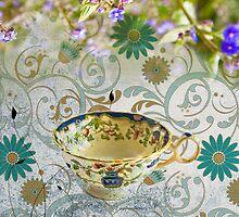 Tea Cup Blue by Lisa Wilson