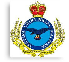 Crest of the Royal Malaysian Air Force Canvas Print