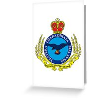 Crest of the Royal Malaysian Air Force Greeting Card