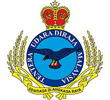 Crest of the Royal Malaysian Air Force Photographic Print