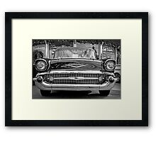 Black Antique Car Framed Print