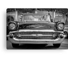 Black Antique Car Canvas Print