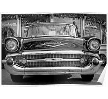Black Antique Car Poster
