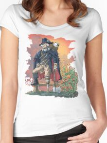 GEORGE WASHINGTON FOUNDING PIRATE FATHER REDUX Women's Fitted Scoop T-Shirt
