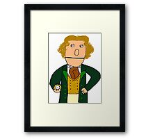 Eighth Doctor Muppet Style Framed Print