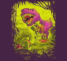Bloody Extinction of Purple T Rex Dinosaur Unisex T-Shirt