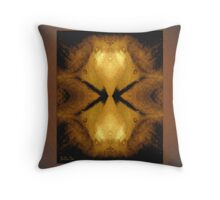 Amber Bioluminology Throw Pillow