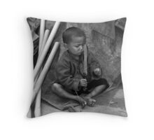 Playing with Knives Throw Pillow