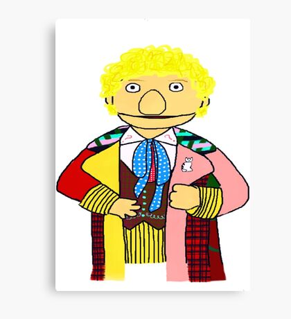 Sixth Doctor Muppet Style Canvas Print