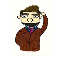 Tenth Doctor Muppet Style Art Print