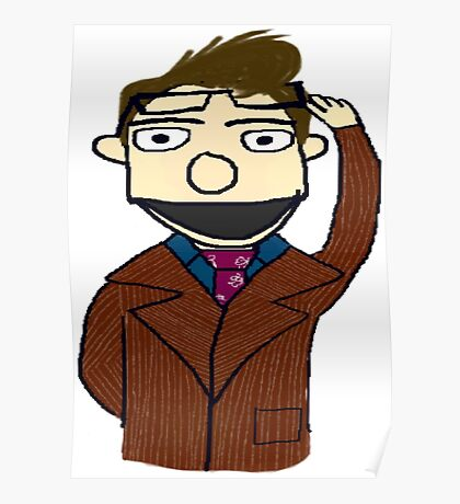 Tenth Doctor Muppet Style Poster