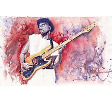 Jazz Guitarist Marcus Miller Red Photographic Print
