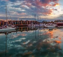 Raby Bay Panorama - Cleveland Qld Australia by Beth  Wode