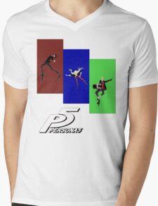 Persona 5 Skating Shirt Mens V-Neck T-Shirt