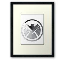 S.H.I.E.L.D Monochrome Framed Print