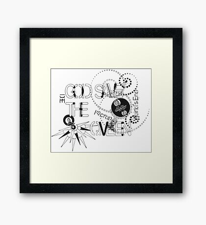 God Save The QVeen - Vivienne Icons  Framed Print