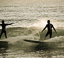 Early Morning Surfers by Brad Walker