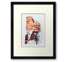 The Incredibly Shrinking Prime Minister  (Scrunched up Celebrities) Framed Print