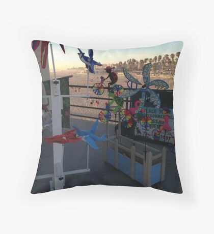 Shops On The Pier Throw Pillow