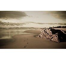 Sepia Toned Beach - Currumbin Photographic Print