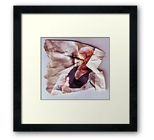 Very Angry Anderson  (Scrunched up Celebrities) Framed Print