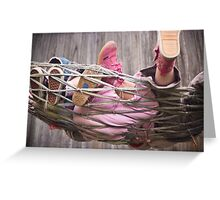 shoes and hammock Greeting Card