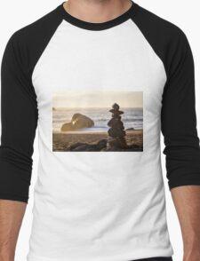 Stacked Rocks Men's Baseball ¾ T-Shirt