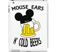 Mouse Ears N' Cold Beers iPad Case/Skin