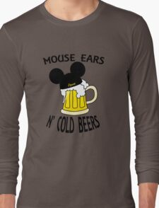 Mouse Ears N' Cold Beers Long Sleeve T-Shirt