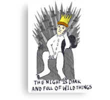 A Game Of Wild Things Canvas Print
