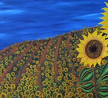 """Sunflower dream""  by Guy Wann"