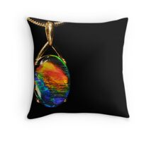Opal Fire Throw Pillow