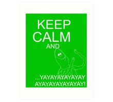 Keep Calm and Kermie On Art Print