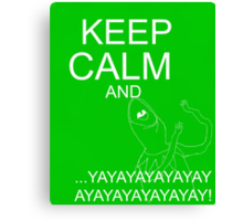 Keep Calm and Kermie On Canvas Print